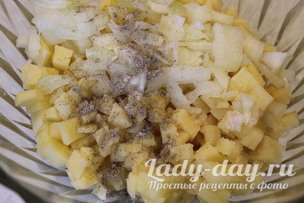 лук и картошка