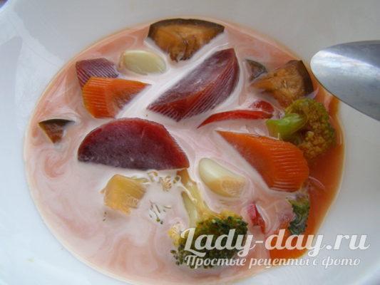 суп овощной для похудения вкусный рецепт