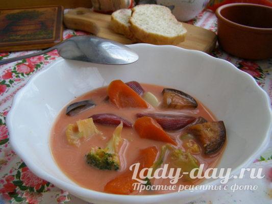 Вкусный овощной суп для похудения, рецепт