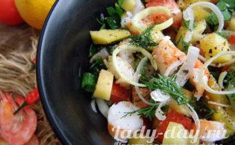 салат с манго и креветками рецепт с фото очень вкусный