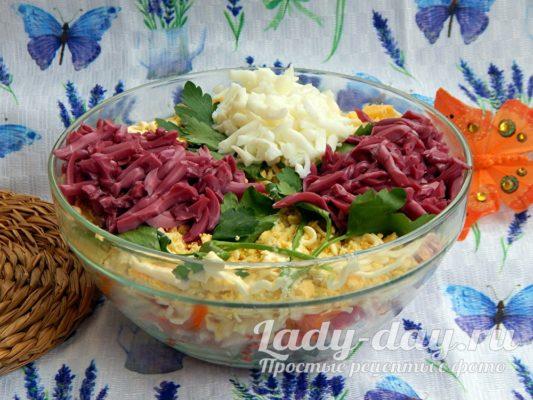 Салат на 8 марта букет сирени