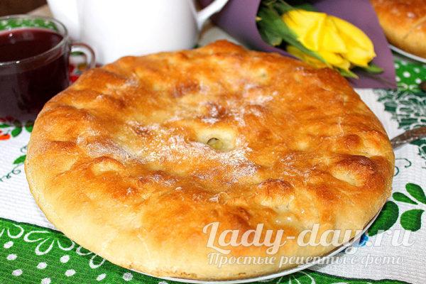 пирог с картошкой из дрожжевого теста в духовке
