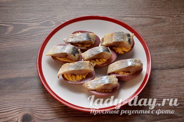 Закуска с селедкой рецепт с фото простой и вкусный