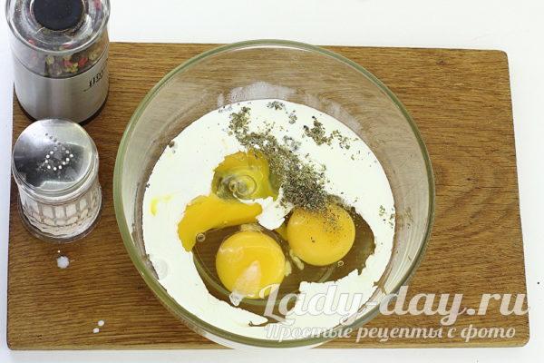 сливки и яйца