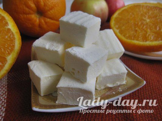 зефир из сахара и желатина в домашних условиях