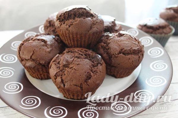 маффины шоколадные на кефире рецепт с фото пошагово