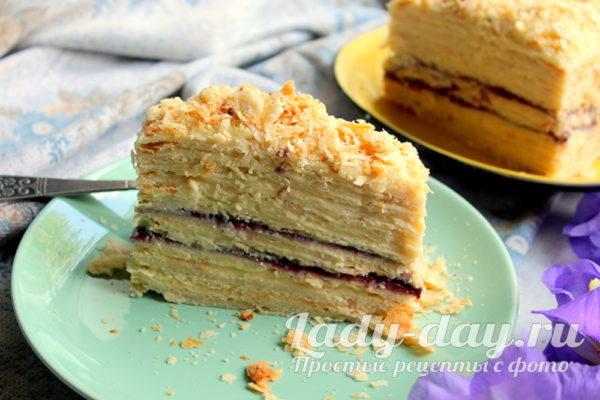 Торт Наполеон в домашних условиях, простой рецепт с фото