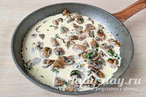 сливки с грибами