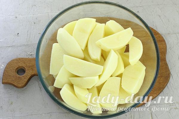 картошка дольками