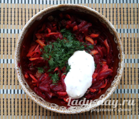 соус и салат