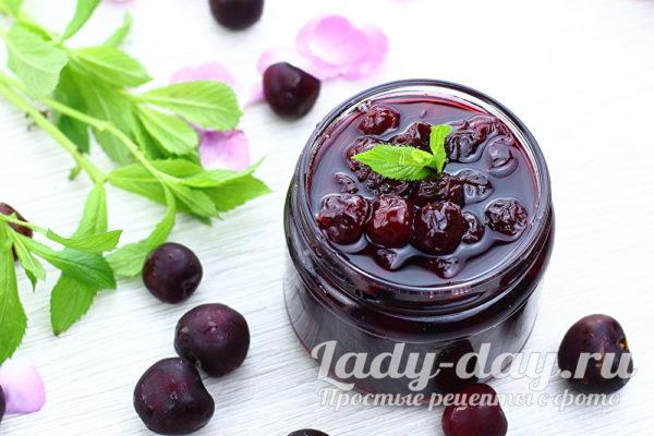 вишнёвое варенье без косточек рецепт на зиму густое с целыми ягодами