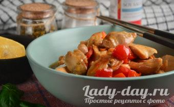 курица по-китайски в кисло-сладком соусе рецепт с фото