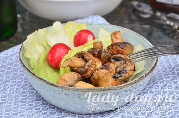 шампиньоны на мангале рецепт маринада с майонезом и чесноком рецепт с фото