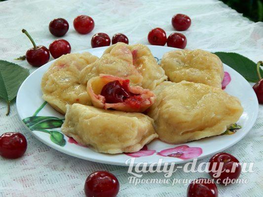 вареники с вишней рецепт с фото пошагово готовим дома