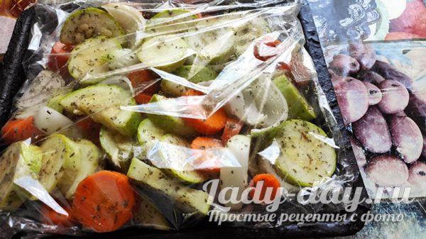 овощи в пакете для запекания