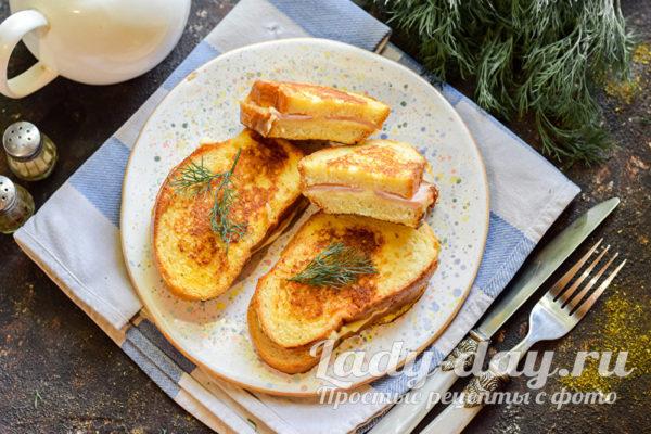 вкусное блюдо на завтрак