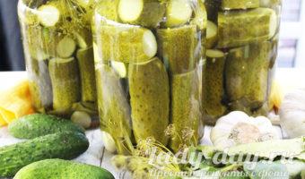 Маринованные огурцы рецепт на зиму. Хрустящие, сладкие, на 1 литр