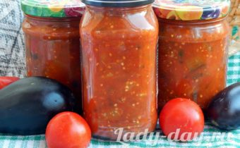 Баклажаны в томате на зиму, обалденный рецепт