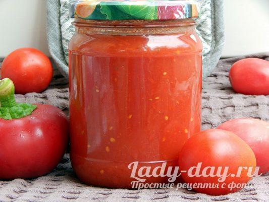 томатный соус на зиму в домашних условиях