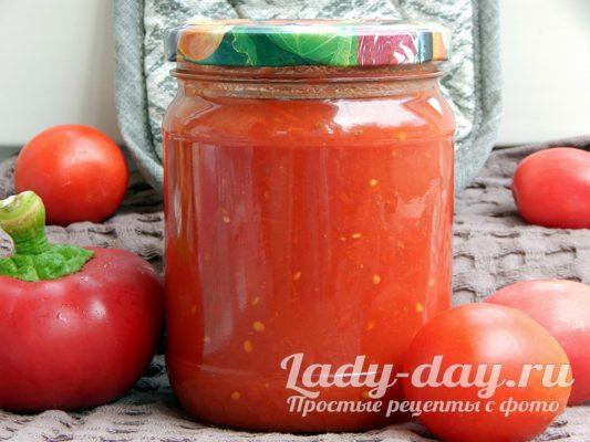 томатный соус на зиму в домашних условиях рецепт с фото пошагово