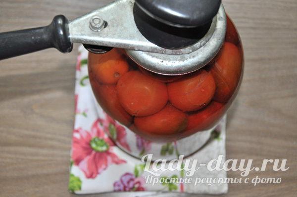 закрыть помидоры крышкой