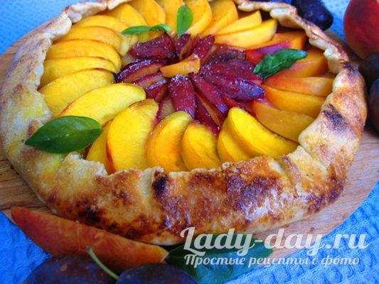 Галета с фруктами в духовке