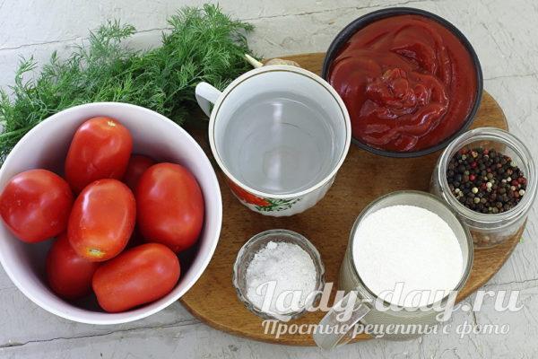 помидоры и кетчуп