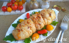 рецепт куриного рулета в духовке с фото пошагово