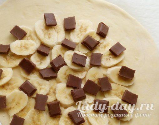банан и шоколад