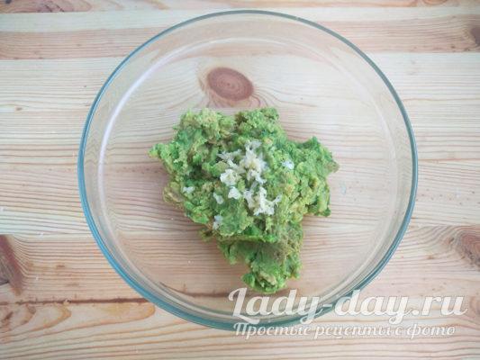 чеснок и авокадо