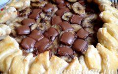 Пирог с бананами и шоколадом