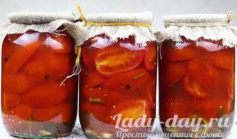 помидоры с кетчупом на зиму