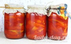 болгарский перец в томатном соке на зиму, рецепт приготовления