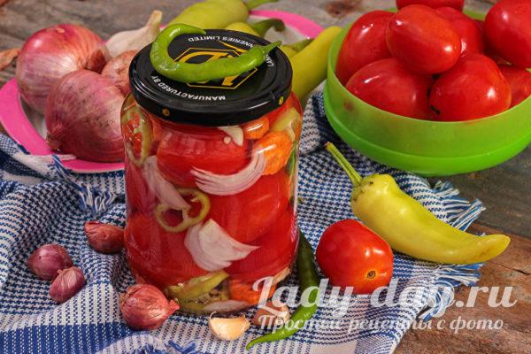 маринованные помидоры с болгарским перцем на зиму ну очень вкусные