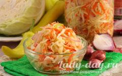 салат из капусты на зиму в банках с болгарским перцем морковью и луком
