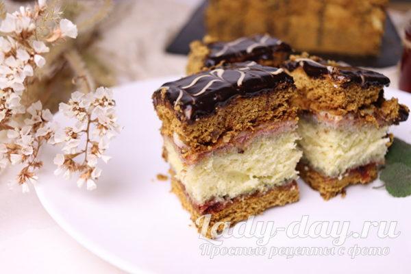 медовый бисквитный торт рецепт в домашних условиях
