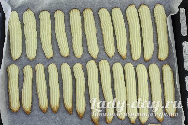 лимонное печенье на противне