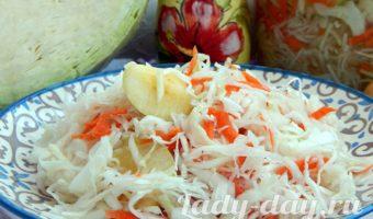 маринованная капуста с яблоками быстрого приготовления