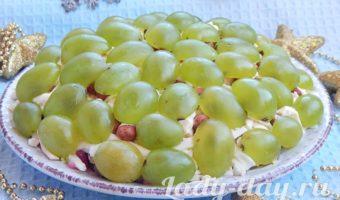 салат тиффани с курицей и виноградом рецепт с фото пошагово