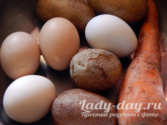 яйца картошка и морковь