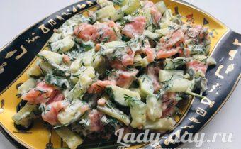 Быстрый, вкусный и простой рецепт салата с семгой