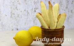 лимонное печенье рецепт с фото пошагово в духовке
