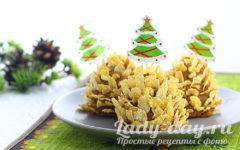 как приготовить новогодний десерт еловые шишки