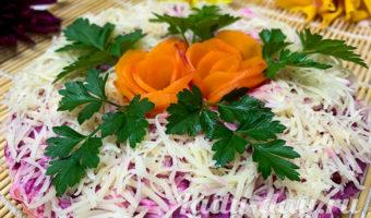 Салат со свеклой изюмом и сыром