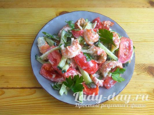 салат из раковых шеек рецепт с фото очень вкусный