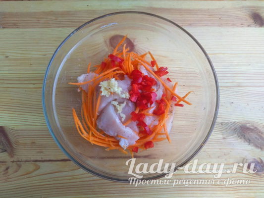 рыба и морковь