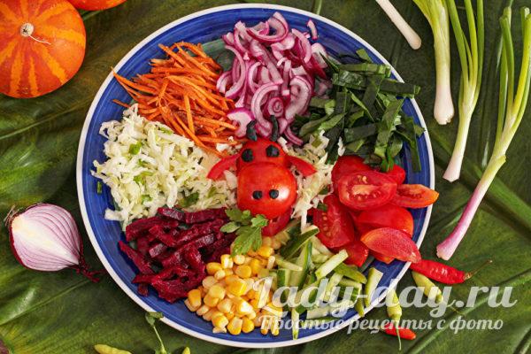 Салат «Бычок в огороде»