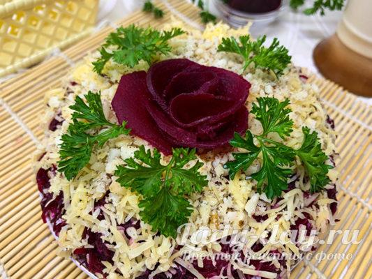 салат генерал со свеклой и курицей пошаговый рецепт