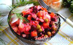 рецепт винегрета с квашеной капустой и горошком