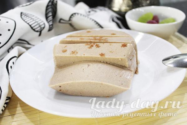 десерт из ряженки с желатином и какао рецепт